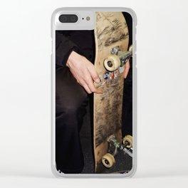 SKATE Clear iPhone Case