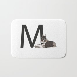 M is for Miniature Schnauzer Bath Mat