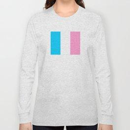 Parody of the french flag -France,Paris, pink, Marseille, lyon, Bordeaux,love, girly,fun,idyll,Nice Long Sleeve T-shirt