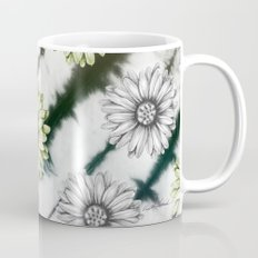 Green Daisies Smile Mug