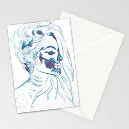 Candy Skull Mermaid Stationery Cards