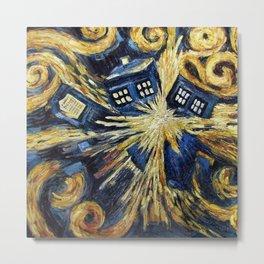 TARDIS EXPLODES Metal Print
