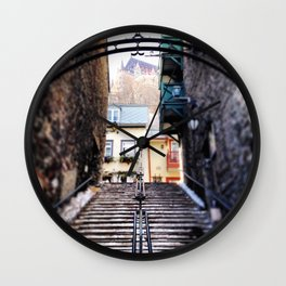Old Quebec City Wall Clock