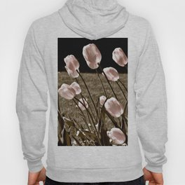 Pink Tulips and Moonlight Hoody