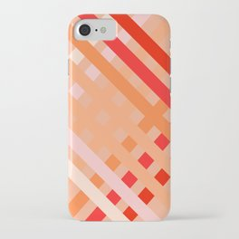 Crisscross Coral and Taupe iPhone Case