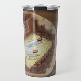 La Vie en Fumier. The smoking life. Travel Mug