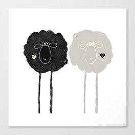 Ying Yang Sheep Canvas Print