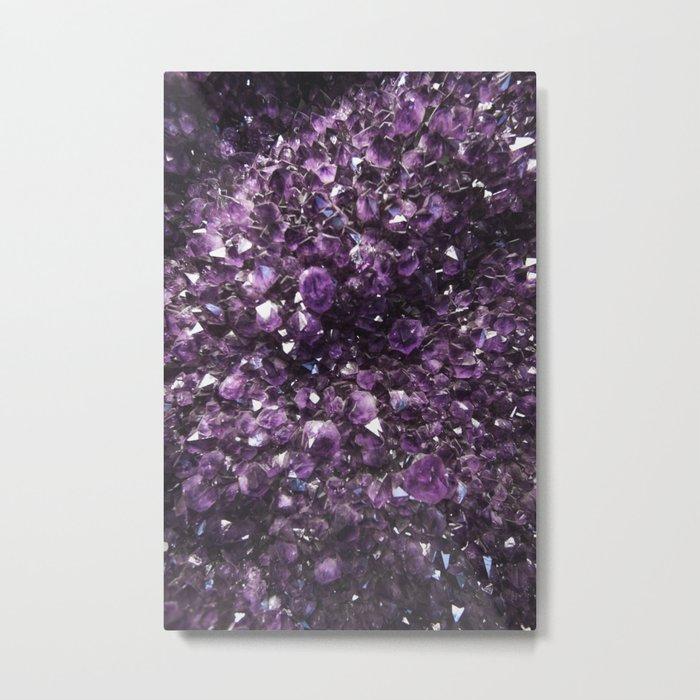 Amethyst Crystal Photography Metal Print