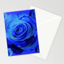 BLUE ROSES & BLUE  MODERN ART CONCEPT Stationery Cards