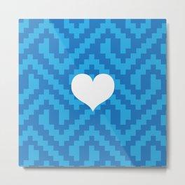 Blue Locking Love Metal Print