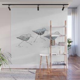 """ Shorebirds "" Wall Mural"