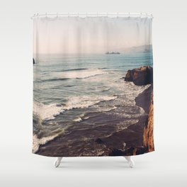 Vintage Ocean #landscape Shower Curtain