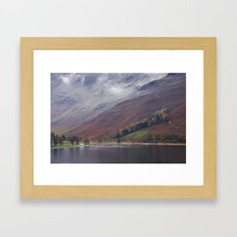 Cloud and autumnal colours. Buttermere, Cumbria, UK. Framed Art Print