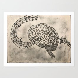 Tune of Thoughts Art Print