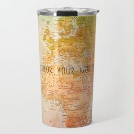 Color your World Travel Mug