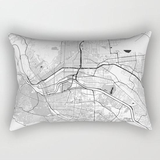 El Paso Map Gray Rectangular Pillow