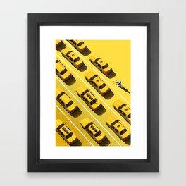 New York Cabs Framed Art Print