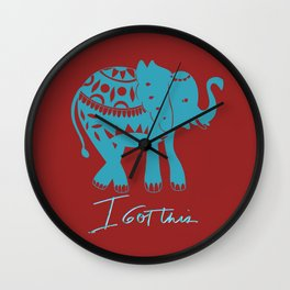 I got this blue elephant Wall Clock
