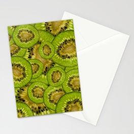 Kiwi Slices - Natural Fruit Pattern Stationery Cards