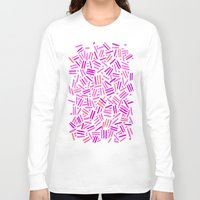 confetti Long Sleeve T-shirts featuring confetti  by Ariadne