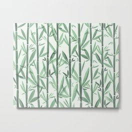 Bamboo Forest Watercolor Metal Print