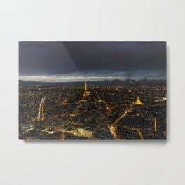 Paris Lights Night View Metal Print