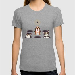Cute Cats Dogs on Sunny Day T-shirt