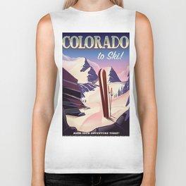 Colorado Ski print Biker Tank