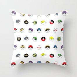 Cute Pokeball Pattern Throw Pillow
