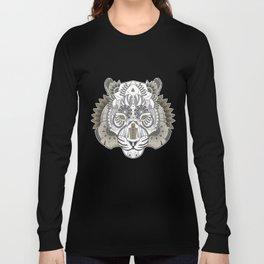 Zentangle Tiger 02  Long Sleeve T-shirt