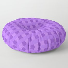 Retro Purple Squares Floor Pillow