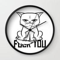 grumpy Wall Clocks featuring Grumpy Grumpy by Navass