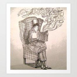 Book Worm Art Print