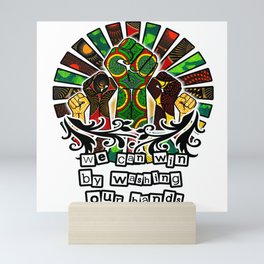 We can win if we wash our hands Mini Art Print