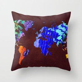 World Map 34 Throw Pillow