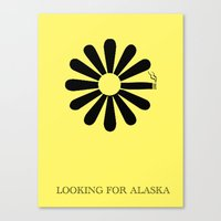 looking for alaska Canvas Prints featuring Looking for Alaska by green.lime