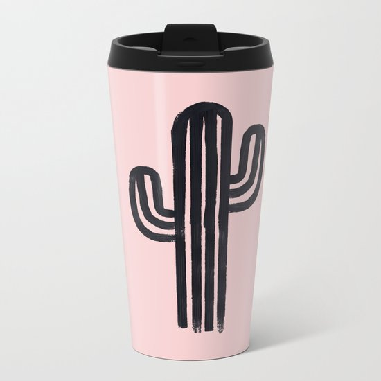 The God Cactus Metal Travel Mug