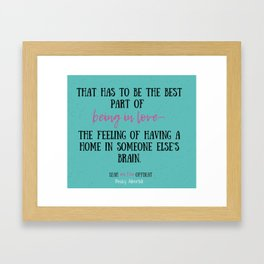 Leah on the Offbeat by Becky Albertalli quote Framed Art Print