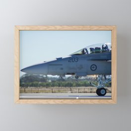 RAAF FA-18 Hornet Framed Mini Art Print