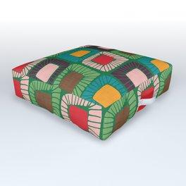 Mid Century Quilt Pink #homedecor Outdoor Floor Cushion