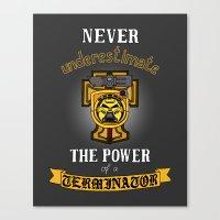 warhammer Canvas Prints featuring Terminator 1, Warhammer 40K by ZsaMo Design
