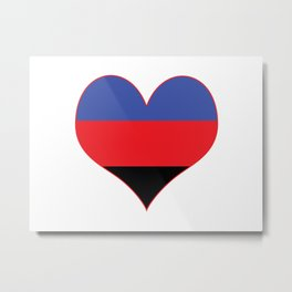 Polyamorous Heart Metal Print