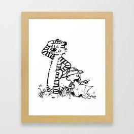 explore calvin hobbes Framed Art Print