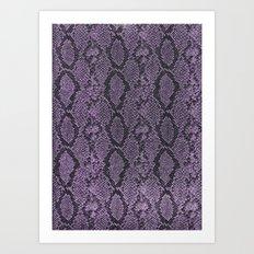 Purple Glitter Snakeskin Art Print
