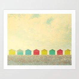 Beachfront Art Print