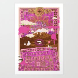 MORNING PSYCHEDELIA (Purple/pink) Art Print