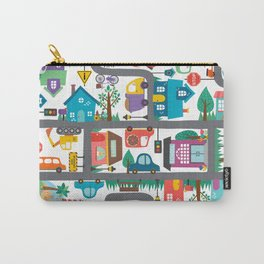 Cute Town Road Map  Carry-All Pouch