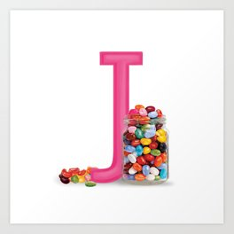 J is for Jelly beans Art Print