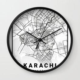 Karachi Light City Map Wall Clock