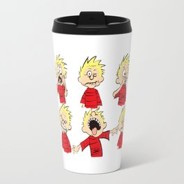 calvin expression yucks Travel Mug